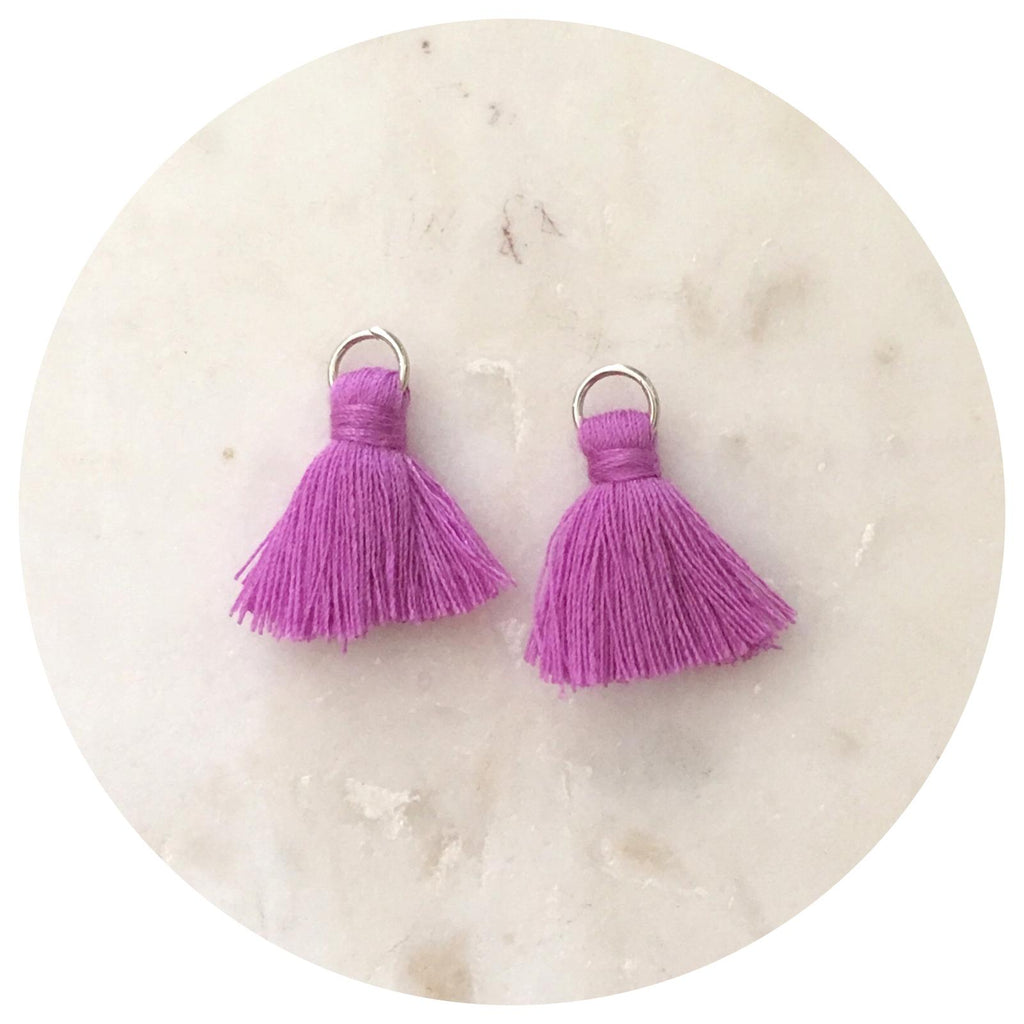 20mm Mini Cotton Tassels - Lavender - 2pack - L4619
