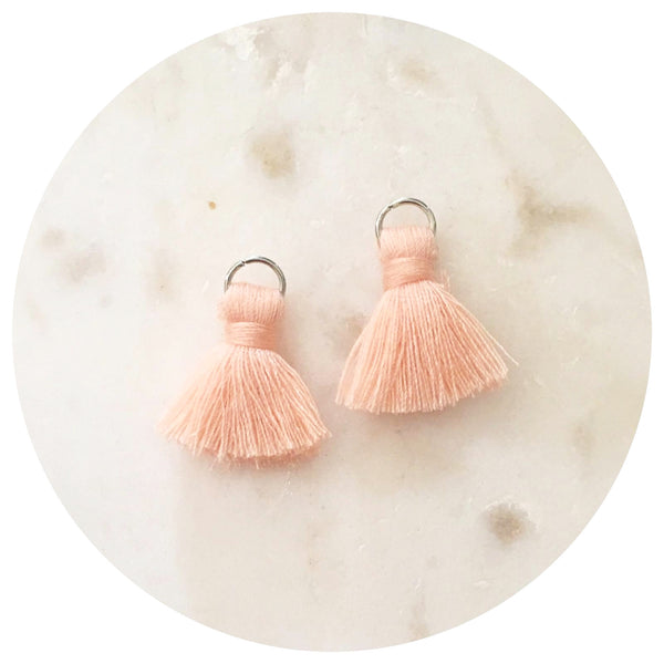 20mm Mini Cotton Tassels - Peach - 2pack - L4605