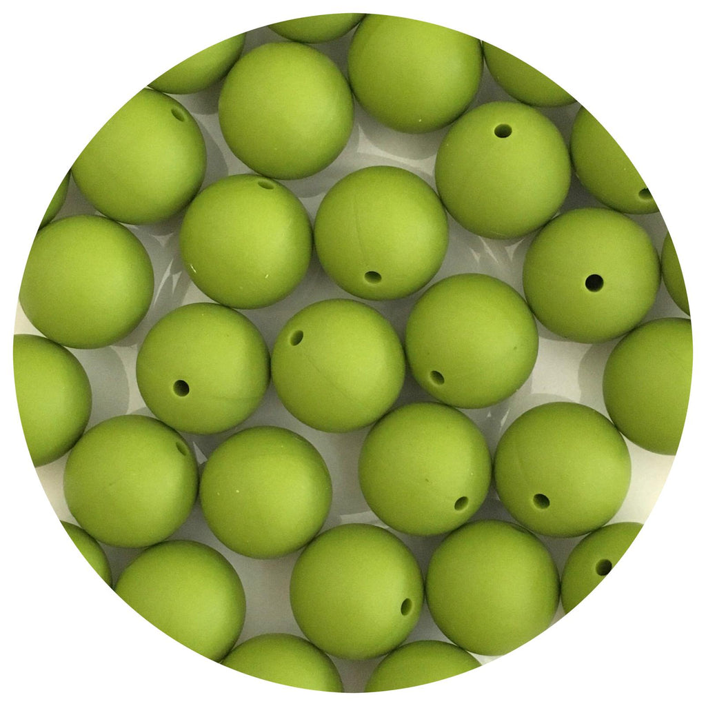 Olive Green - 19mm round - 10/25pack