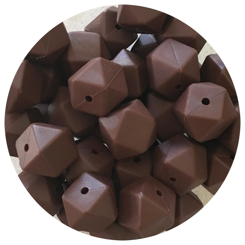 Chocolate - 17mm Hexagon - 10/25pack