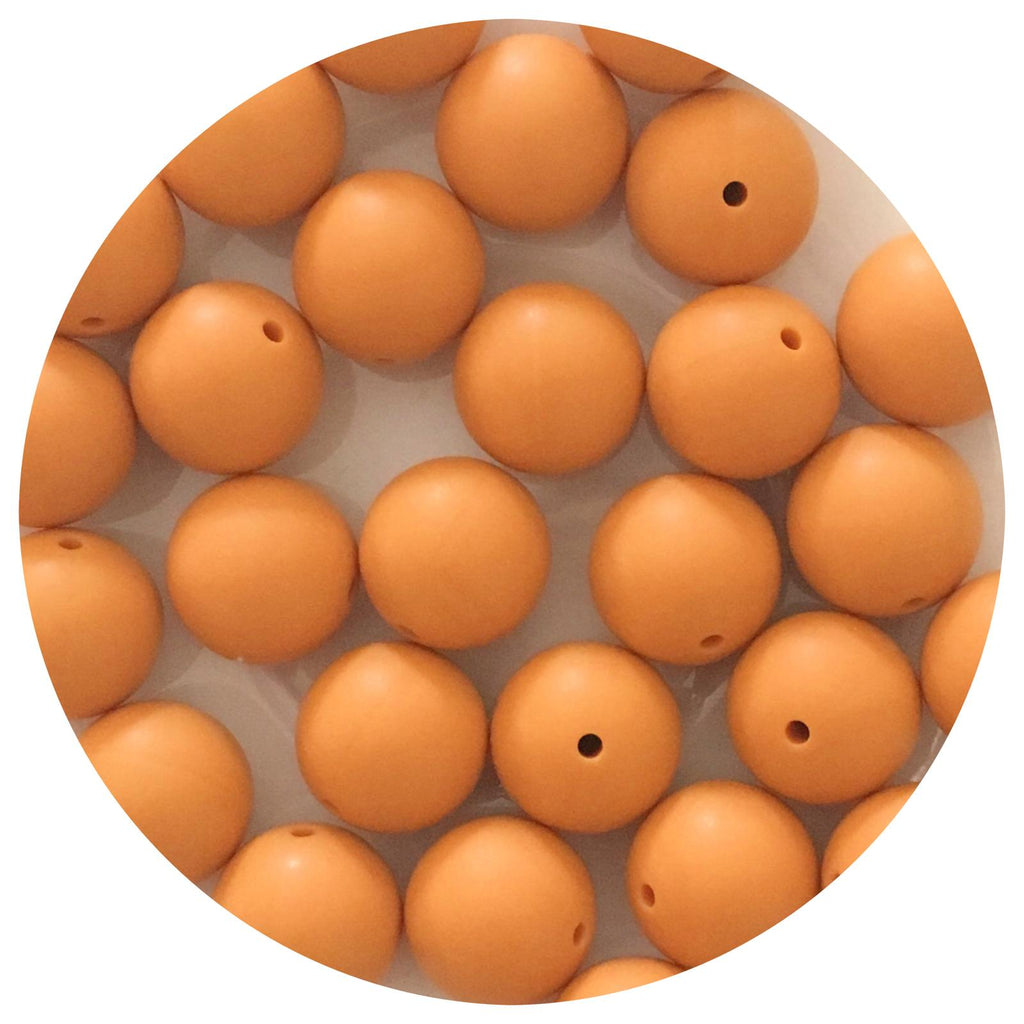 Mango Orange - 19mm round - 10/25pack