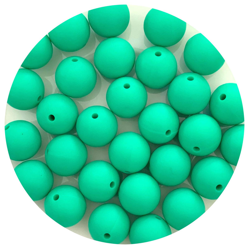 Kelly Green - 15mm round - 10/25pack