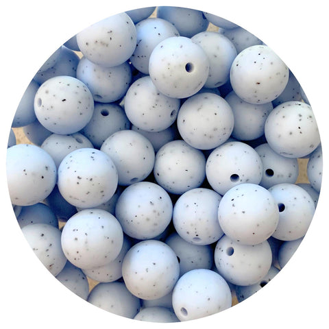 Blue Speckled - 15mm round - 10/25pack