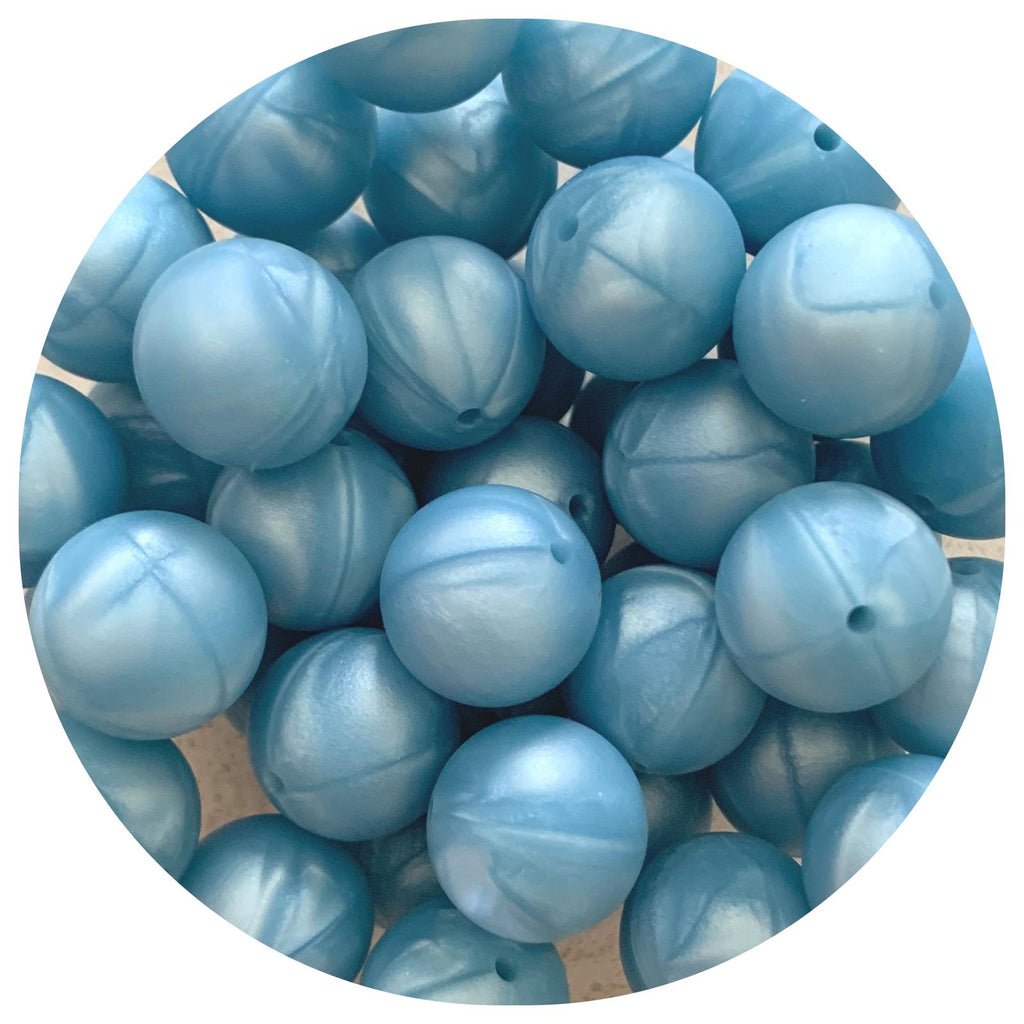 Pearl Blue - 19mm round - 10/25pack