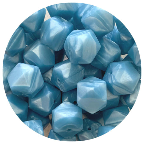 Pearl Blue - 17mm Hexagon - 10/25pack