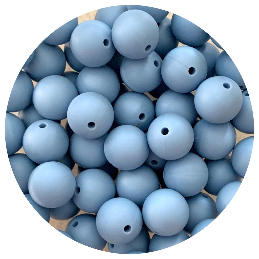 Steel Blue - 15mm round - 10/25pack