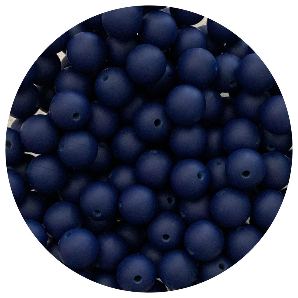 Midnight Blue - 12mm Round - 10/25pack