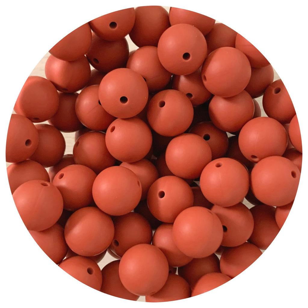 Cinnamon Spice - 15mm round - 10/25pack