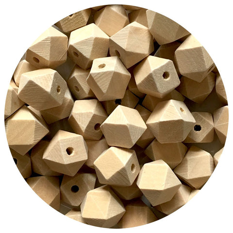 Natural Wood Hexagon Beads - 15mm - 10/30/50pack
