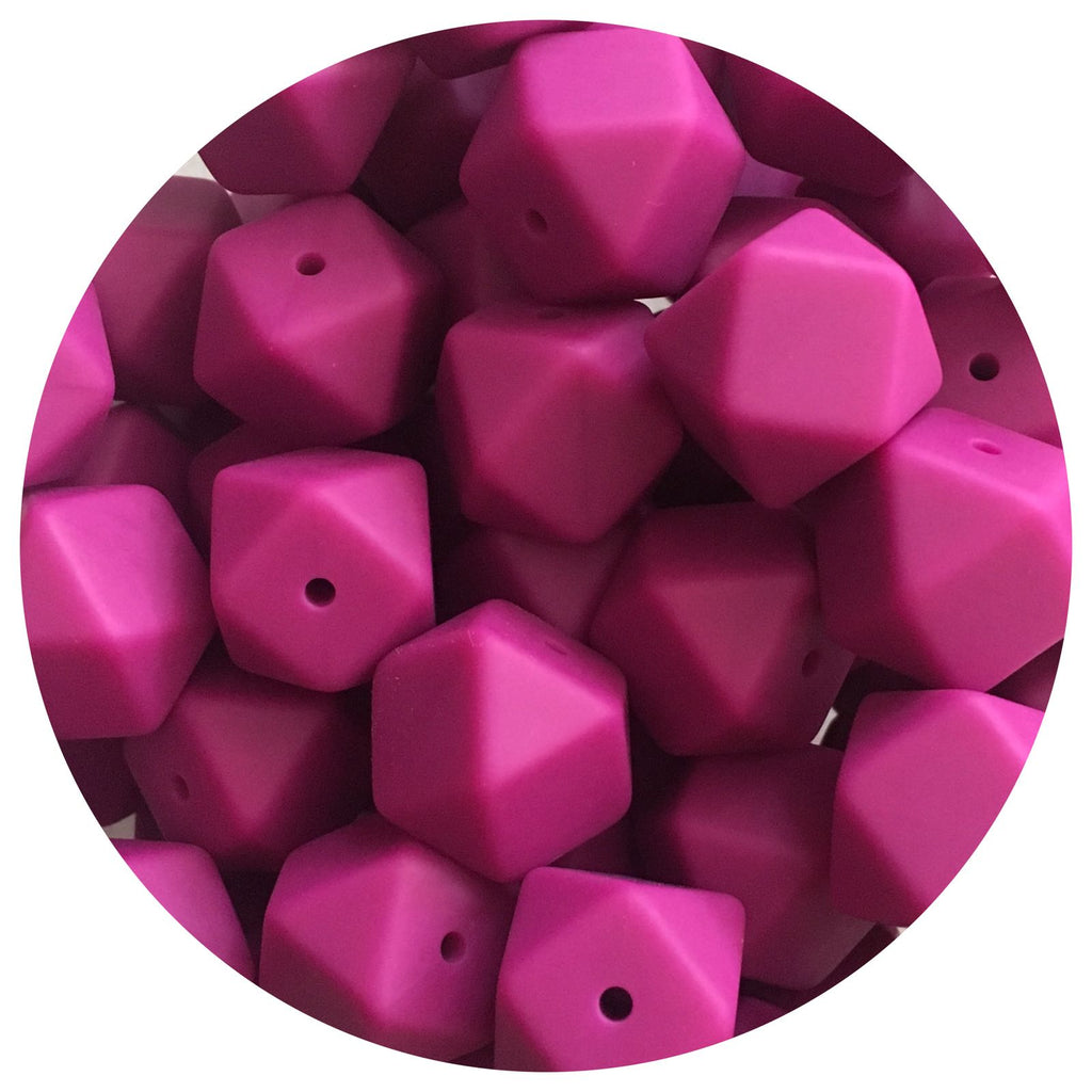 Magenta - 17mm Hexagon - 10/20/50pack