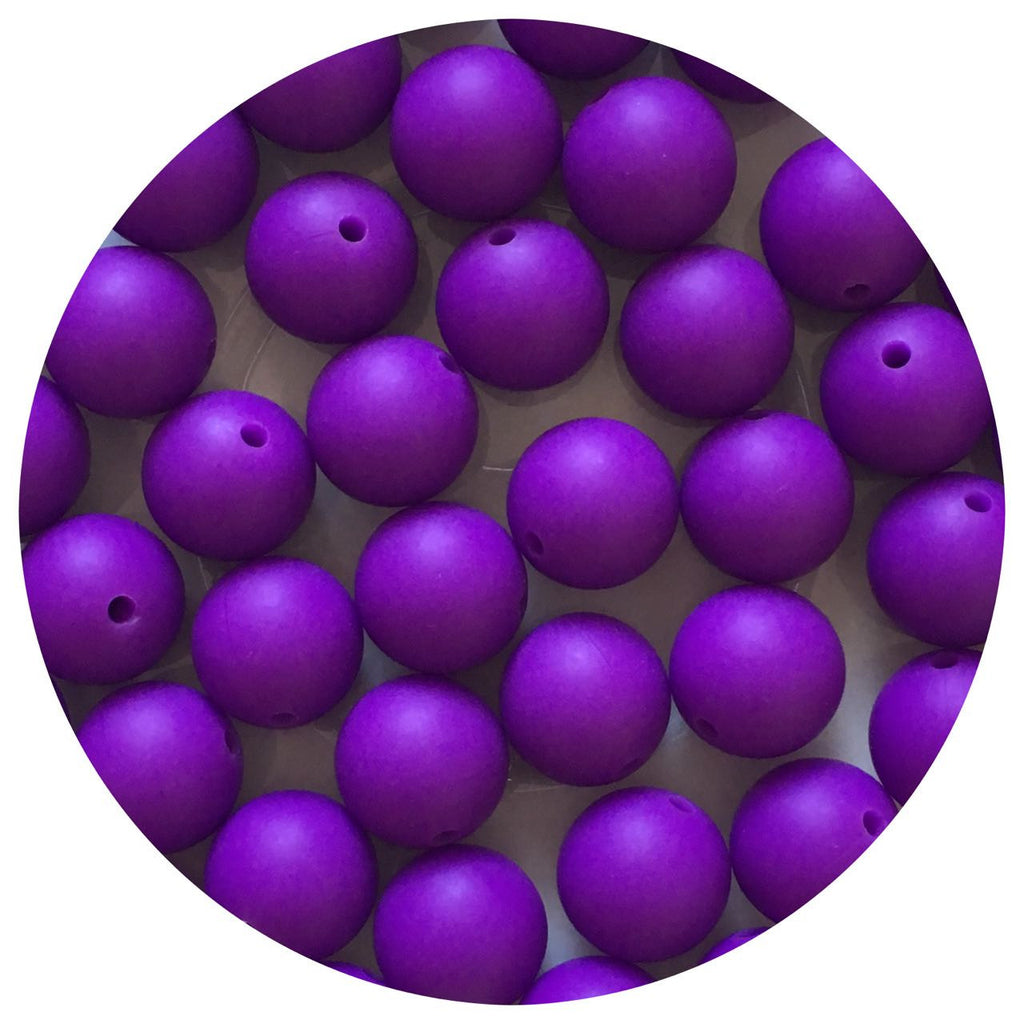Lavender Purple - 15mm round - 10/20/50pack