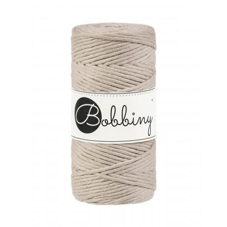 Bobbiny Single Twist Macrame Cord - 3mm - Beige