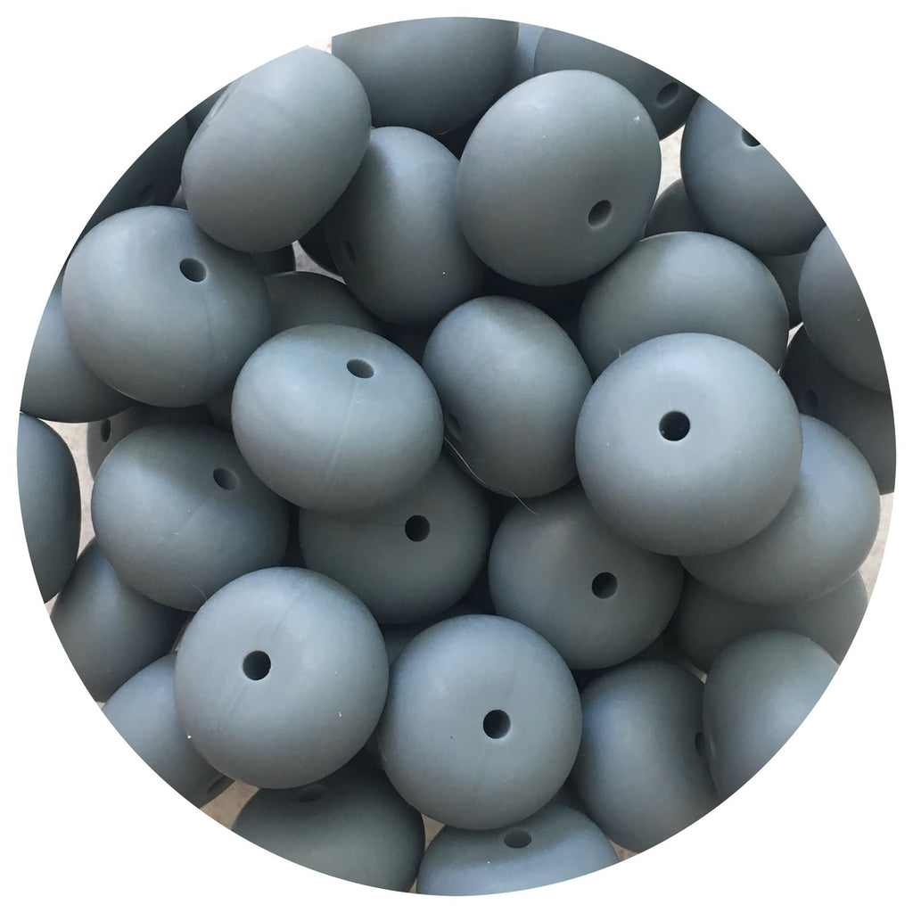 Dark Grey - 22mm Abacus - 10/25pack