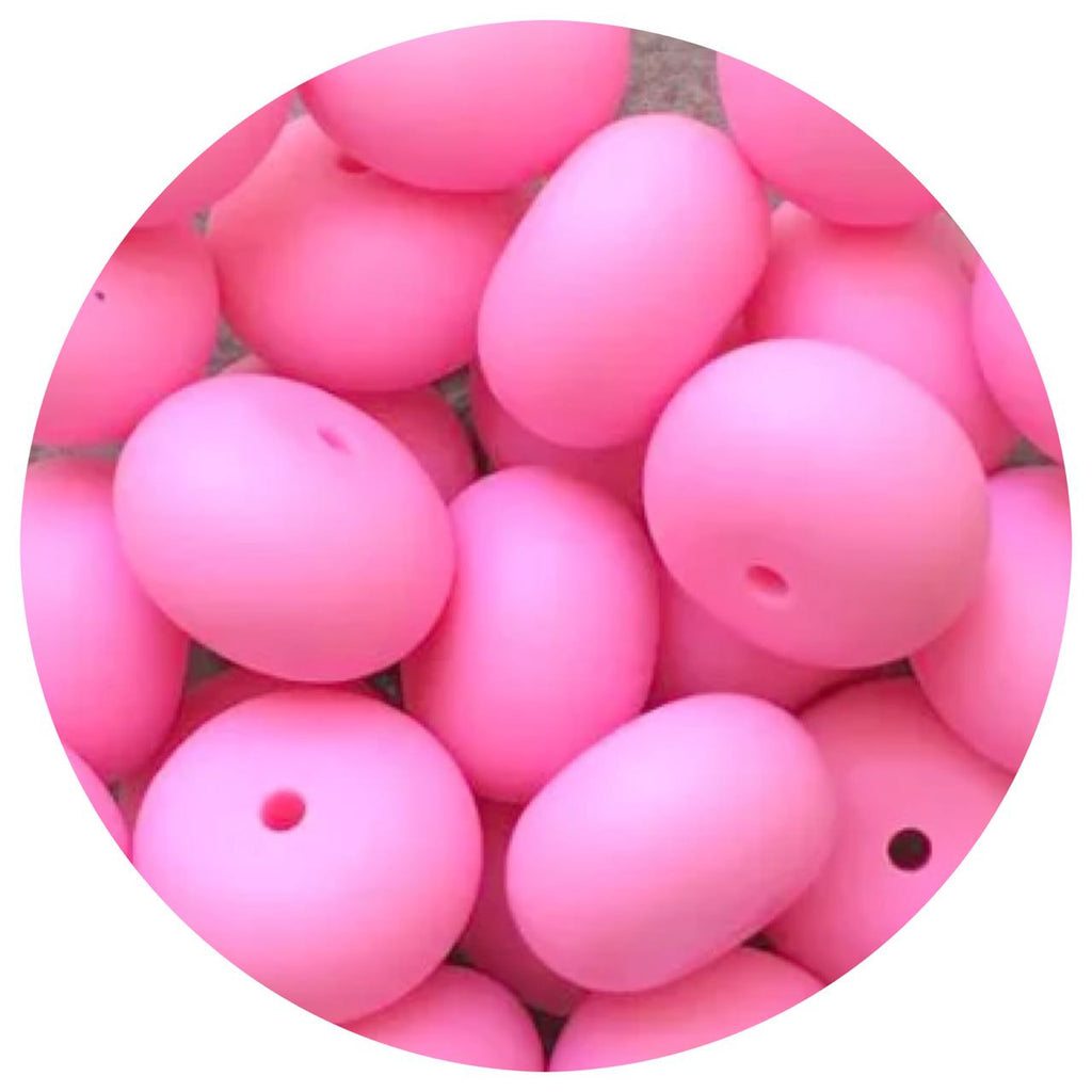 Bubblegum Pink - 22mm Abacus - 10/25pack
