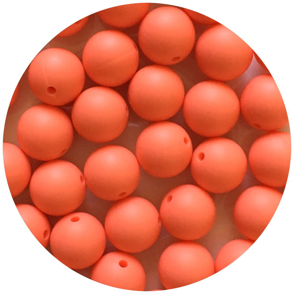 Bright Coral - 15mm round - 10/20/50pack