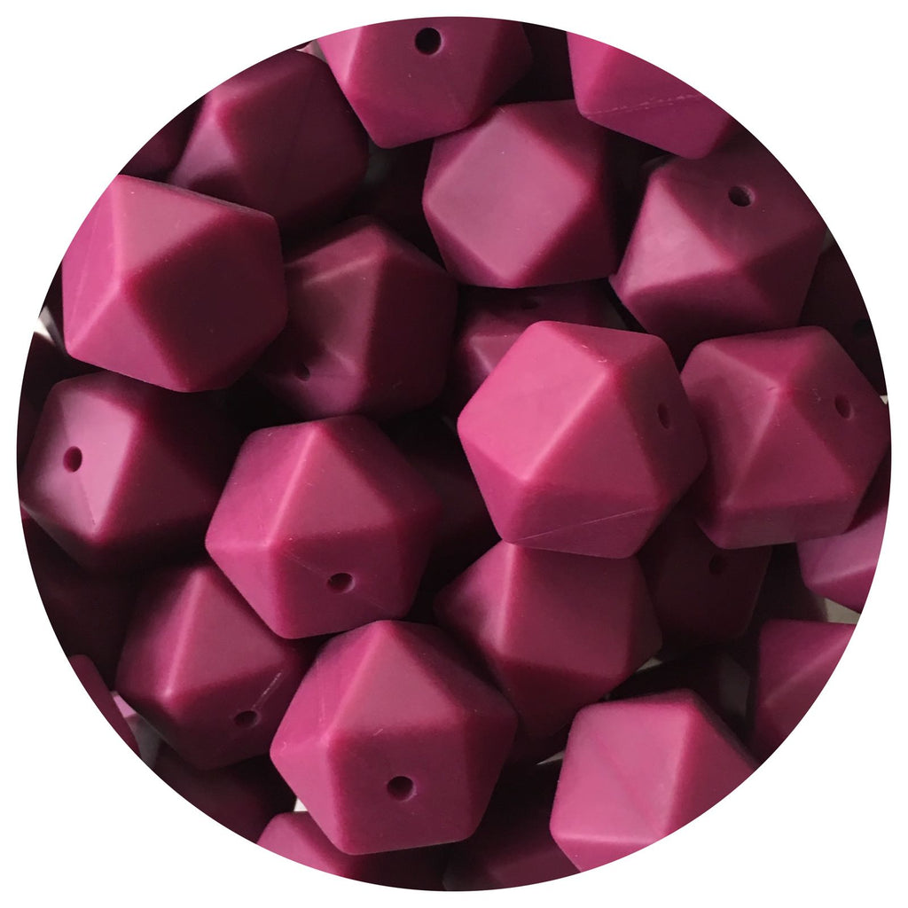 Plum - 17mm Hexagon - 10/25pack