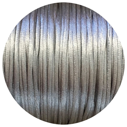 Light Grey - 1mm Satin Nylon Cord