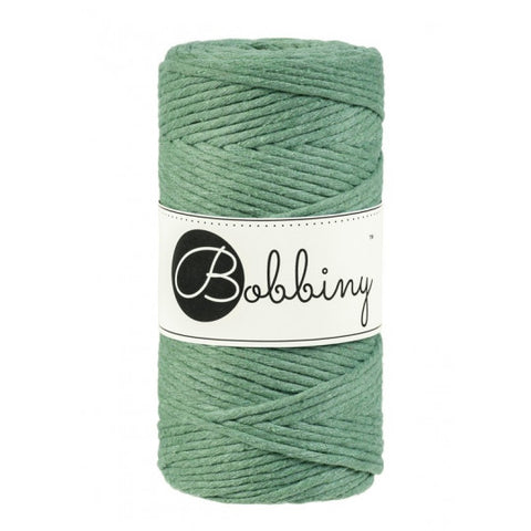 Bobbiny Single Twist Macrame Cord - 3mm - Eucalyptus Green
