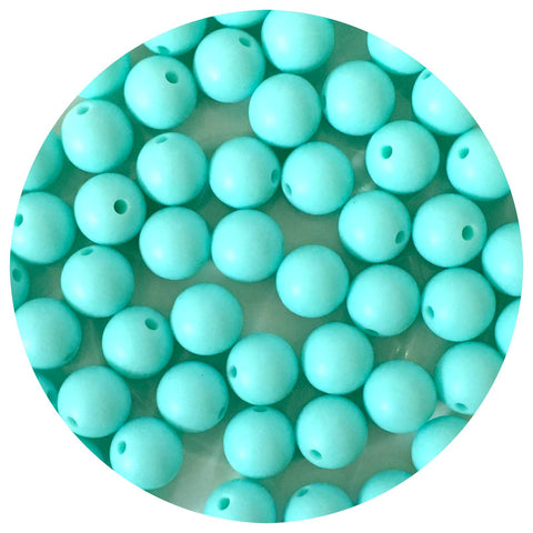 Aqua Blue - 12mm Round - 10/20/50pack