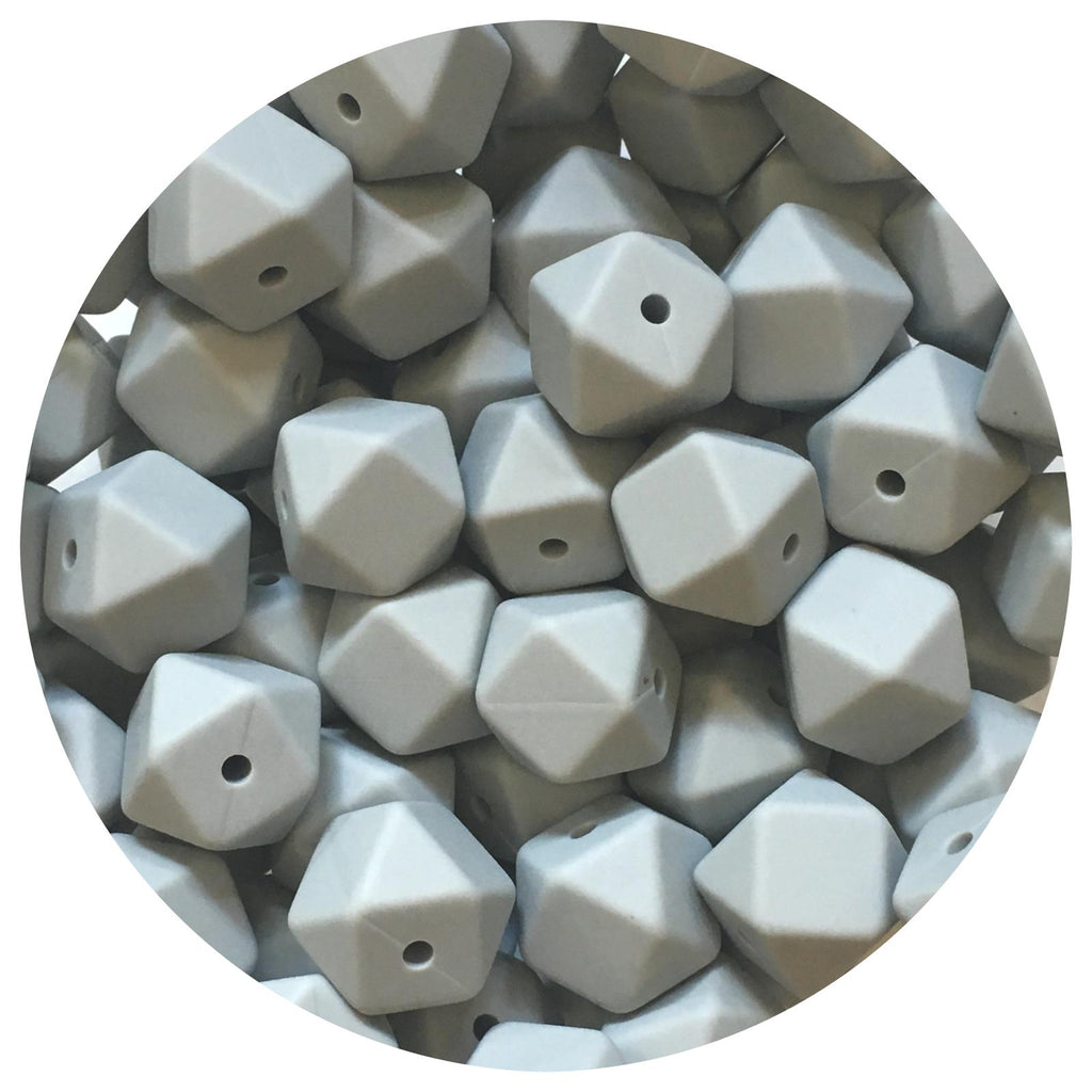 Light Grey - 14mm Mini Hexagon - 10/20/50pack