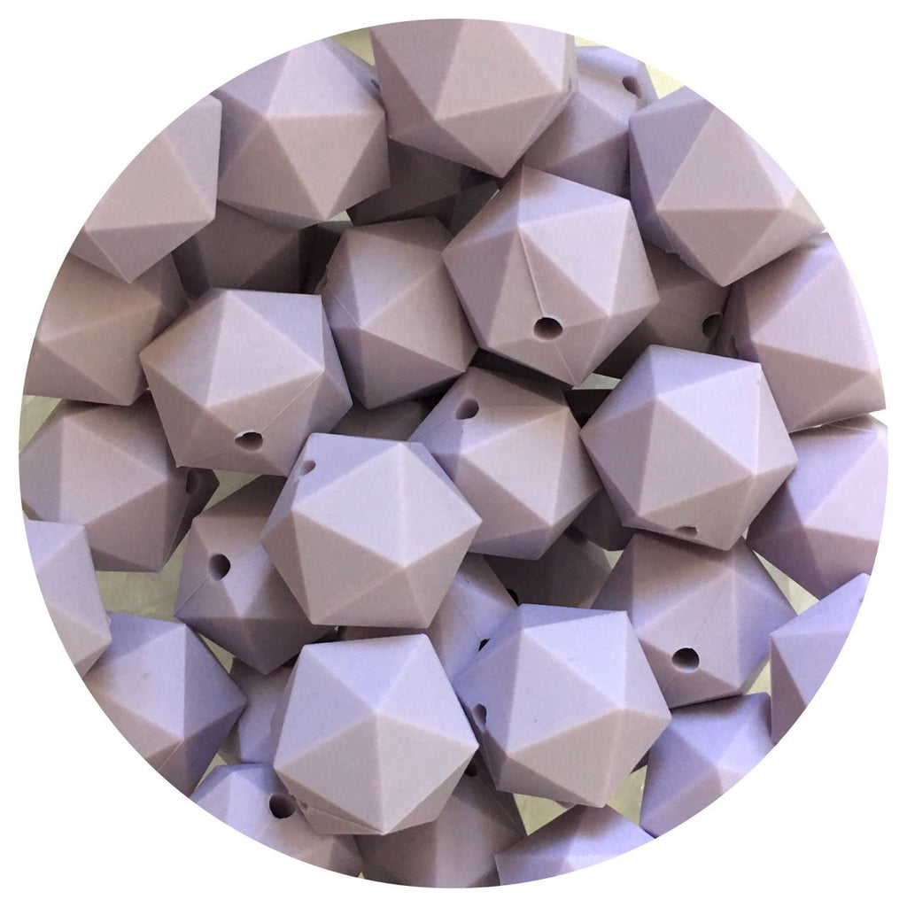 Lilac Purple - 17mm Icosahedron - 10/25pack