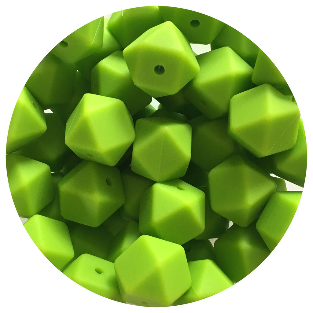 Key Lime Green - 17mm Hexagon - 10/20/50pack
