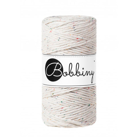 Bobbiny Single Twist Macrame Cord - 3mm - Rainbow Dust