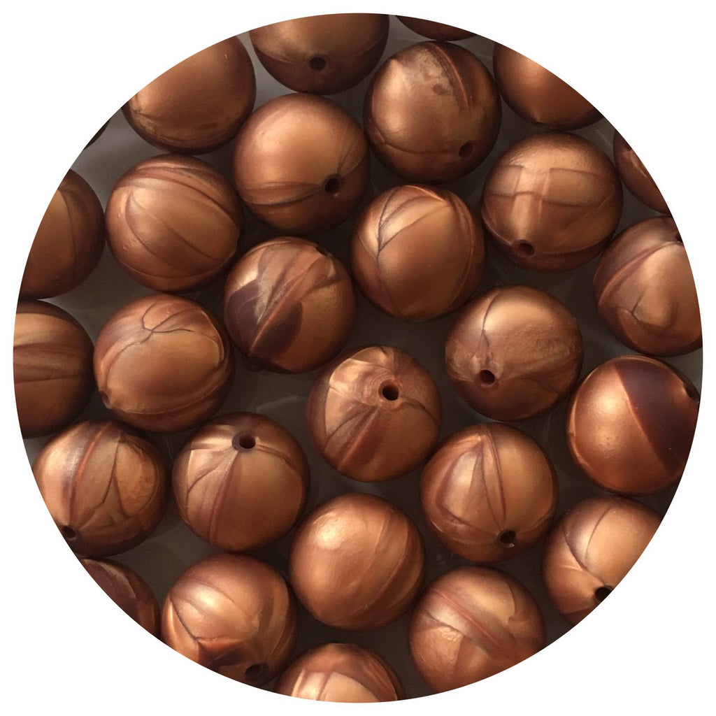 Rose Copper - 19mm round - 10/20/50pack