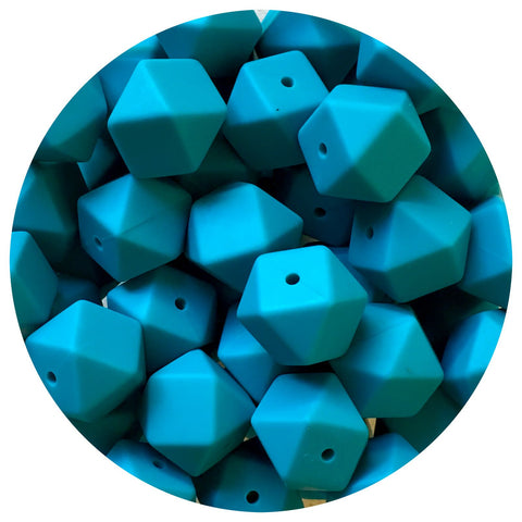 Teal - 17mm Hexagon - 10/20/50pack