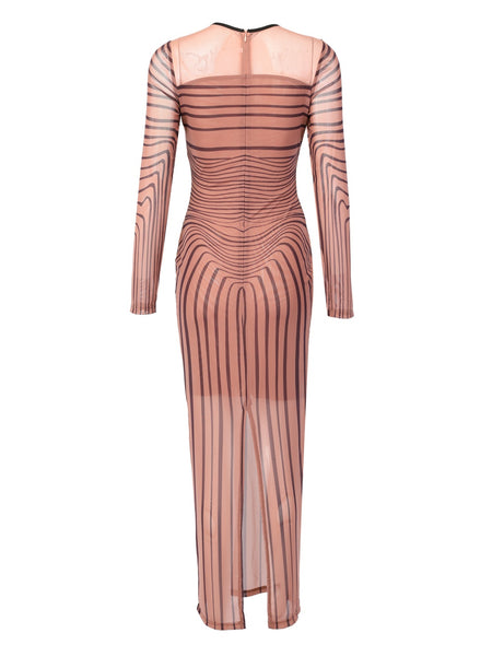 KIMMY - MESH STRIPE DRESS