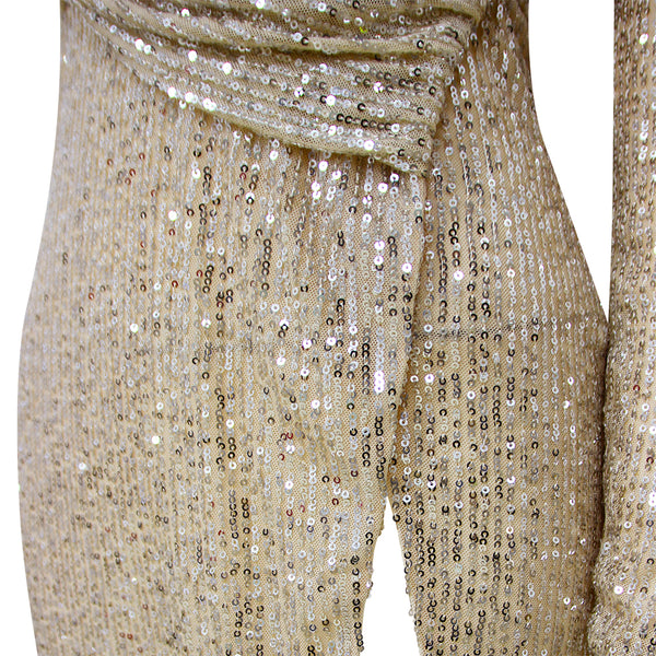 LYANNA - SPARKLY SEQUIN MAXI DRESS