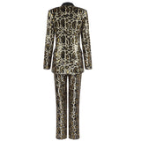 EMERSON - SEQUIN LEOPARD SUIT SET