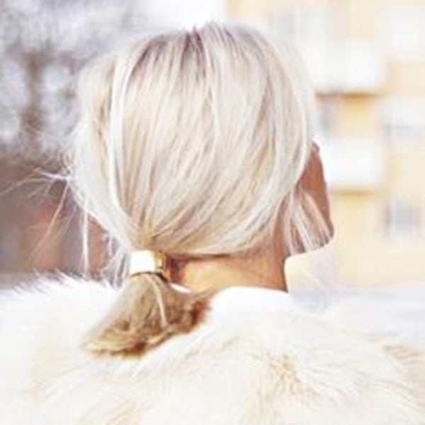 CLASSIC LUXE METAL PONY TAIL CUFF