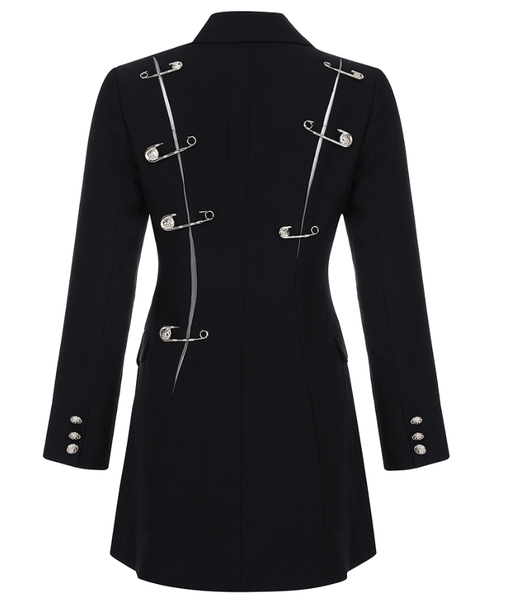 ZAHARA - SAFETY PIN BLAZER DRESS