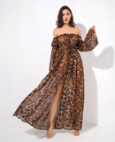 TILLY - LEOPARD MAXI DRESS
