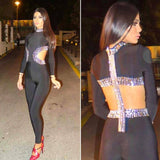ALEXA -  DIAMOND BANDAGE JUMPSUIT