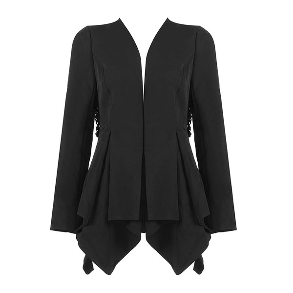LUCINDA - BLACK LACE-UP BLAZER