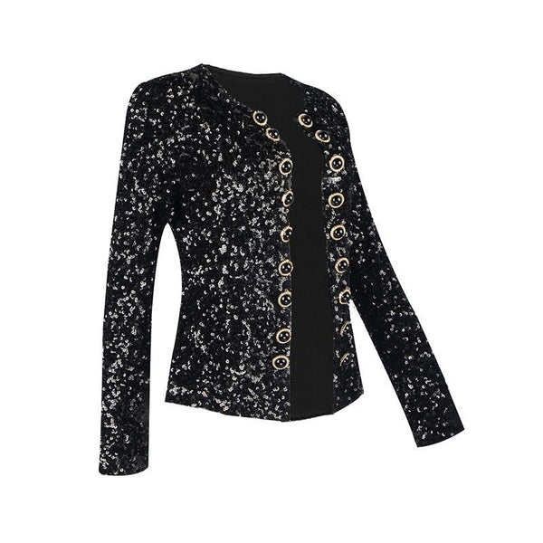 GIA - BLACK SEQUIN JACKET