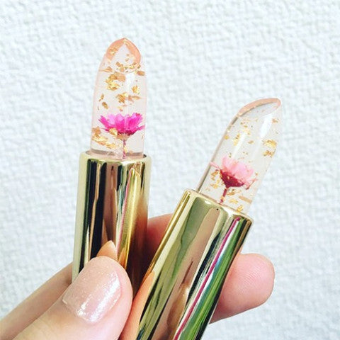 LUXE GOLD FLAKE FLOWER LIPSTICK