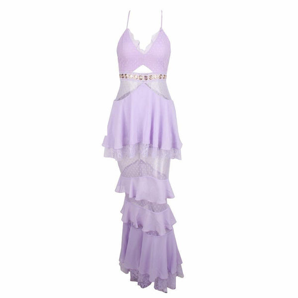 LYLA - ROMANTIC LILAC MAXI DRESS