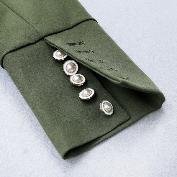 VIVIENNE -  ARMY GREEN BLAZER DRESS