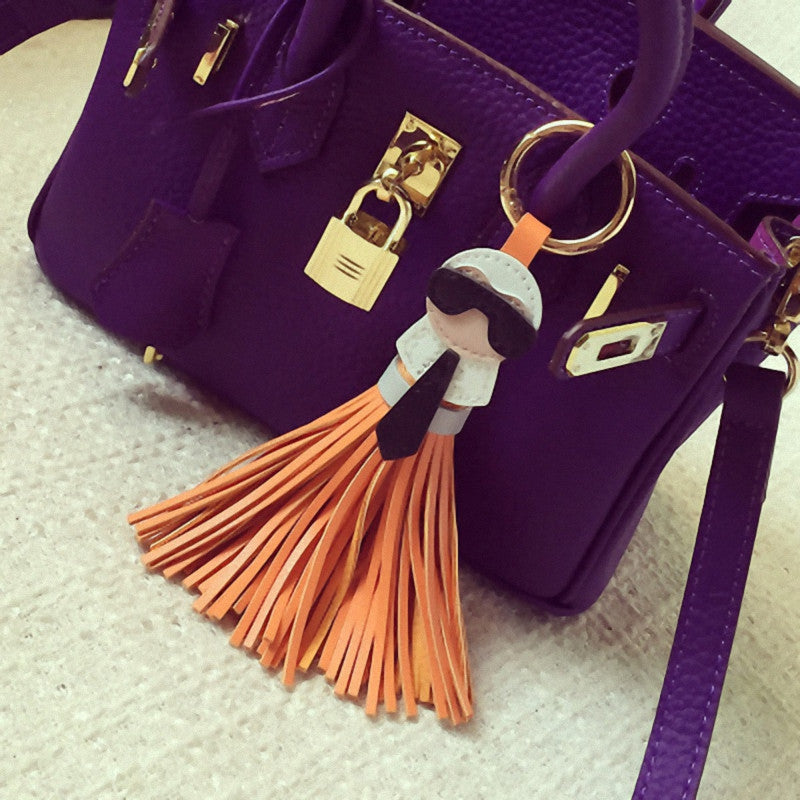 LUXE KARL LEATHER TASSEL