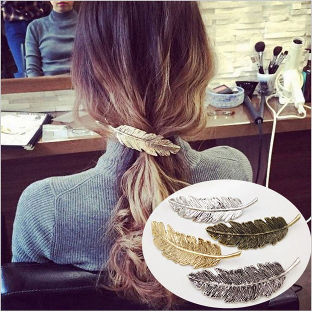 ELEGANTLY LUXE LEAF HAIR CLIP