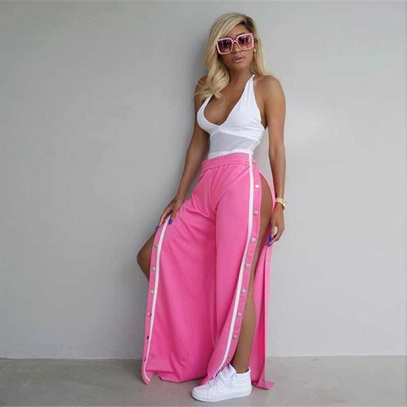'OH SNAP' LUXE WIDE LEG PANTS