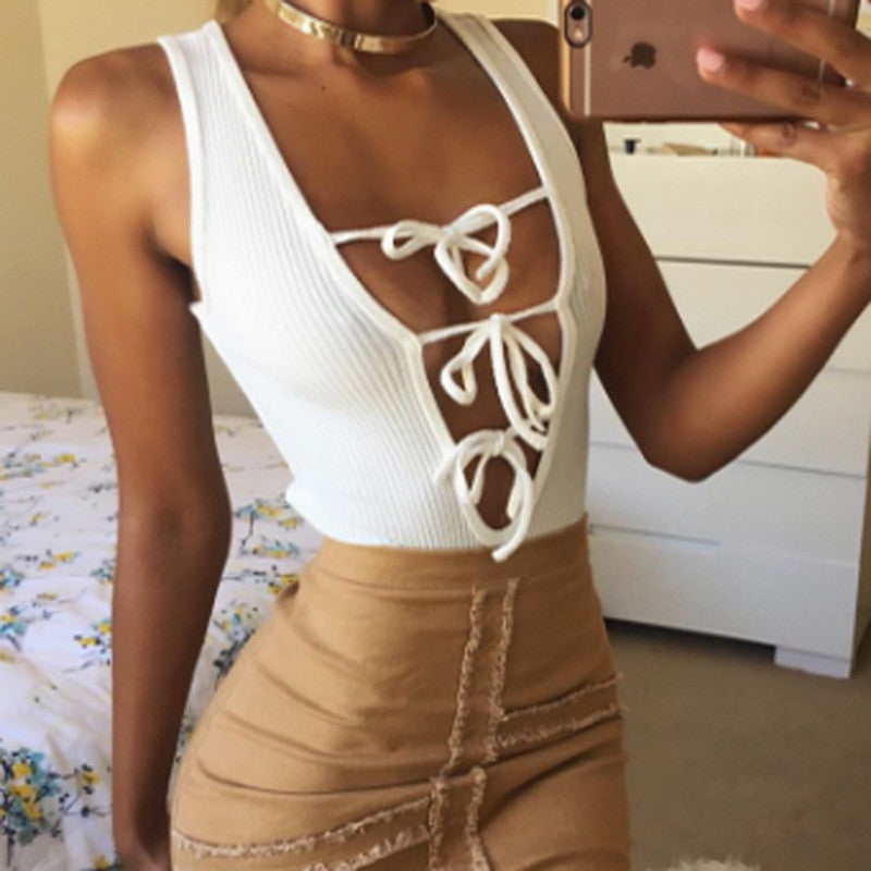 'TIED UP LIKE A GIFT' LUXE BODYSUIT