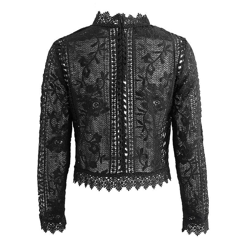 'GO GETTER' BLACK LACE BLOUSE