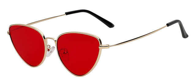 'SELENA' RETRO RED CAT EYE SUNGLASSES