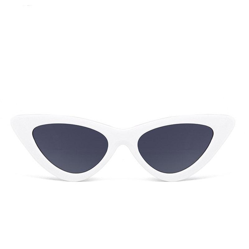 'KENNY' RETRO WHITE CAT EYE SUNGLASSES