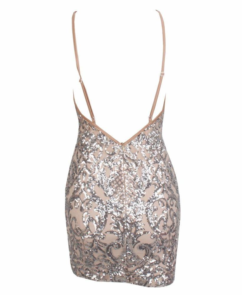 IVY SILVER SEQUIN MINI DRESS