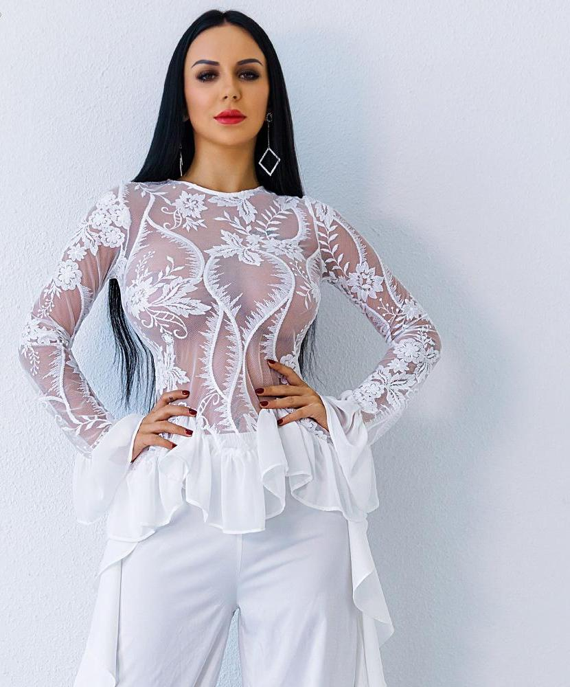 'COCO BELLE' INTRICATE CHIFFON BLOUSE